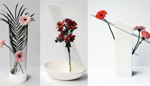 Collection de vases GRID par Benjamin Rousse