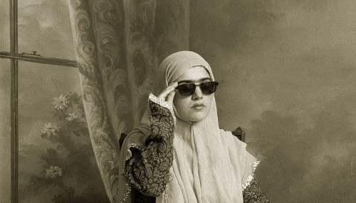 Photo : Shadi Ghadirian, Untitled, serie Qajar, 1998