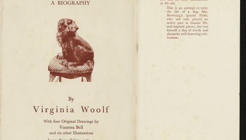Flush, a biography, Virginia Woolf, The Hogarth press